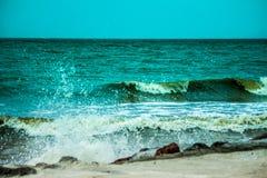 Zielonego morza fala Obraz Stock
