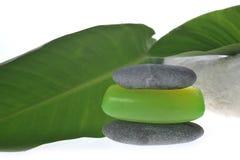 zielonego mydła gąbka Zdjęcie Stock