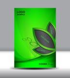 Zielonego Okładkowego projekta wektorowa ilustracja i pokrywy sprawozdanie roczne Fotografia Stock