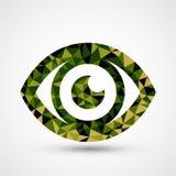 Zielonego oka trójboka wzoru projekt ilustracja wektor