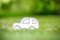 Zielonego papieru eco samochód Fotografia Stock