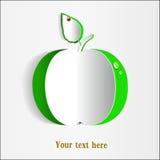 zielonego papieru jabłczany karciany projekt Zdjęcie Stock