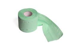zielonego papieru rolki toaleta Zdjęcia Royalty Free