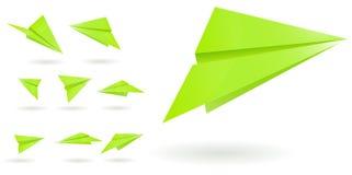 zielonego papieru samoloty royalty ilustracja