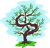 Zielonego pieniądze drzewo z dolarem ilustracji