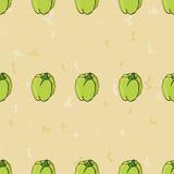 Zielonego pieprzu bezszwowy deseniowy tło Zdjęcie Stock