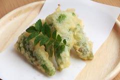 Zielonego pieprzu tempura Obrazy Royalty Free