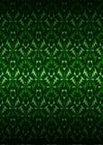 Zielonego secesja tematu wzoru tła ciemny wektor Obrazy Stock