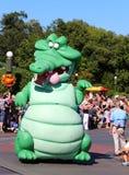 Zielonego smoka charakter przy Disneyworld Obraz Royalty Free
