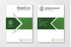 Zielonego sprawozdania rocznego broszurki ulotki projekta szablonu biznesowy wektor royalty ilustracja
