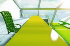Zielonego stołu zbliżenie Obraz Stock
