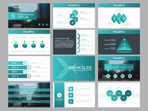Zielonego trójboka plika elementów prezentaci infographic szablon biznesowy sprawozdanie roczne, broszurka, ulotka, reklamowa ulo ilustracji