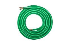 zielonego wąż elastyczny odosobniony biel Obraz Royalty Free