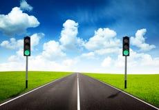 zielonego światła ruch drogowy Fotografia Stock
