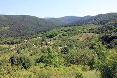 Zielonego wzgórza panoramy widok, utrzymany natury środowisko fotografia royalty free