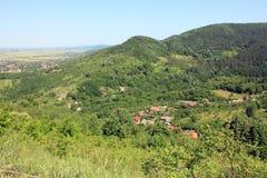 Zielonego wzgórza panoramy widok, utrzymany natury środowisko obrazy royalty free