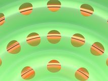 zielonego złota krzywy tła 3d rendering ilustracji