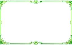 Zielonego złota ramy kąt kwiecisty Zdjęcia Stock
