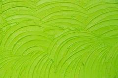 Zielonej świeżej Nierównej tynk ściany tekstury abstrakcjonistyczny tło Fotografia Stock