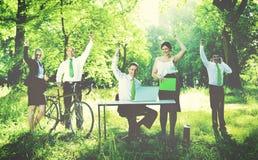Zielonej biznes drużyny Środowiskowy pojęcie obrazy royalty free