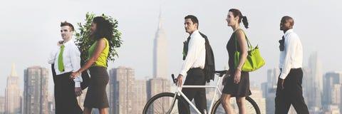 Zielonej Biznesowej dojeżdżający konserwaci Korporacyjny pojęcie zdjęcia royalty free