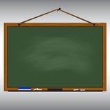 Zielonej chalkboard drewna ramy linowy obwieszenie na gwoździu royalty ilustracja