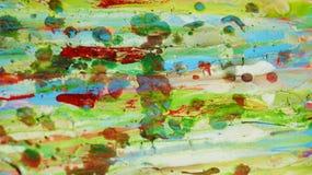 Zielonej czerwieni błotnisty woskowaty żywy tło w żywych odcieniach Obraz Stock