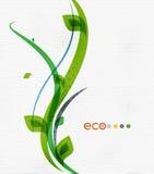 Zielonej eco natury minimalny kwiecisty pojęcie Obraz Royalty Free