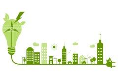 Zielonej ekologii natury ochrony abstrakcjonistyczny obrazek Obraz Royalty Free