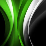 Zielonej fala abstrakta tło Fotografia Royalty Free