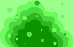 Zielonej fala tło z bąblami Obrazy Stock