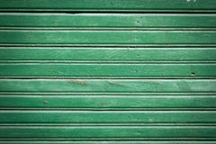 Zielonej farby deski drewniana ściana Zdjęcie Stock