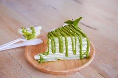 Zielonej herbaty krepy tort Zdjęcie Stock