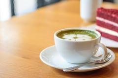 Zielonej herbaty latte filiżanka Zdjęcie Royalty Free