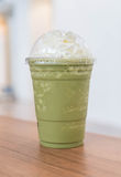 zielonej herbaty latte frappe Fotografia Royalty Free