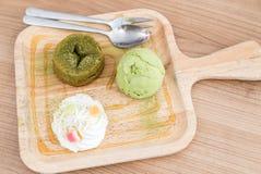Zielonej Herbaty lawy tort Zdjęcie Royalty Free