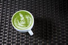 Zielonej Herbaty sztuki Latte Zdjęcie Royalty Free