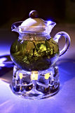 zielonej herbaty teapot Fotografia Stock