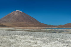 Zielonej laguny, Laguna verde, Boliwia Fotografia Royalty Free