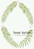 Zielonej liść akwareli ilustracyjny wektorowy tło Fotografia Stock