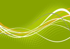 zielonej linii white falisty Zdjęcia Stock
