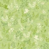 Zielonej natury bezszwowy deseniowy tło Fotografia Royalty Free