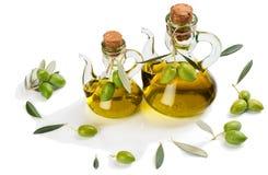 Zielonej oliwki oliwa z oliwek i owoc Obraz Royalty Free