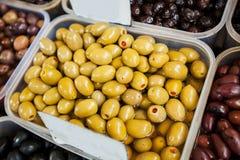 Zielonej oliwki Zdrowy jedzenie Zdjęcie Royalty Free