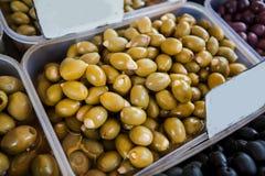 Zielonej oliwki Zdrowy jedzenie Obraz Royalty Free