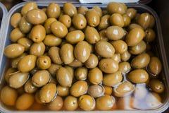Zielonej oliwki Zdrowy jedzenie Fotografia Royalty Free
