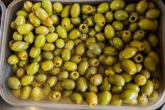 Zielonej oliwki Zdrowy jedzenie Fotografia Stock