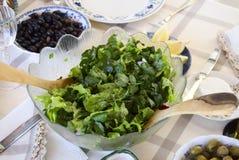 zielonej sałatki tableware Obraz Stock