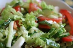 zielonej sałatki warzywa Zdjęcia Royalty Free