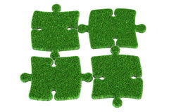 Zielonej trawy łamigłówka, 3D rendering ilustracji